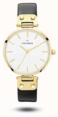 Mockberg Ex-display Women's Saga Black Strap White Dial MO107-EX-DISPLAY