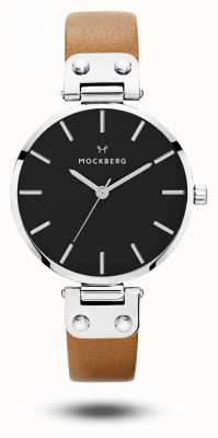 Mockberg Wera Black Brown Strap Black Dial MO112