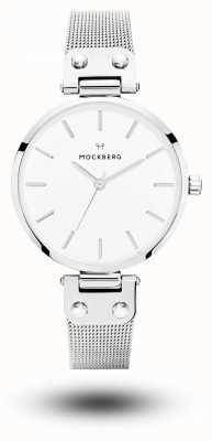 Mockberg Elise Stainless Steel Mesh Bracelet White Dial MO1602