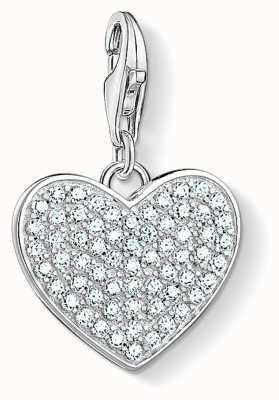 Thomas Sabo Heart Pavé Sterling Silver Charm 1570-051-14