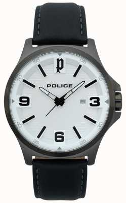 Police Mens Clan Black Leather Watch 15384JSU/04
