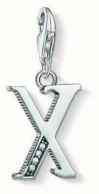 Thomas Sabo Letter X Pendant Sterling Silver Blackened Zirconia 1604-643-21