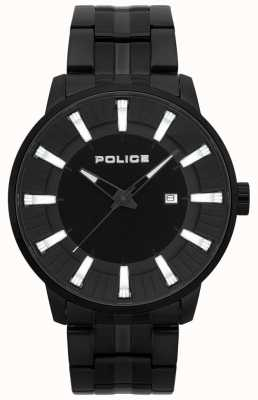 Police Mens Flint Black Pvd Plated Watch 15391JSB/02M