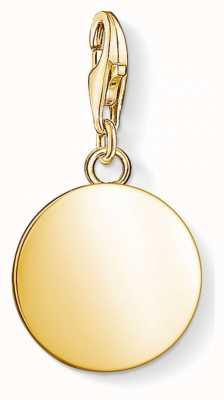 Thomas Sabo Yellow Gold Disc Pendant 1637-413-39