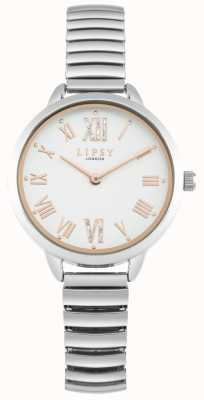 Lipsy Womens Expandable Silver Bracelet Watch LP578