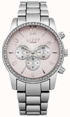 Lipsy Womens Pink Dial Silver Bracelet Watch LP562