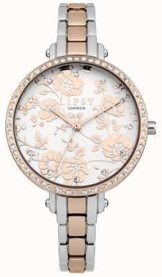 Lipsy Womens Two Tone Floral Watch LP569