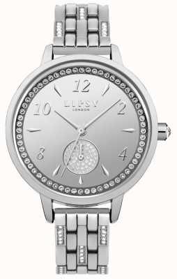 Lipsy Womens Stone Set Silver Bracelet Watch LP564