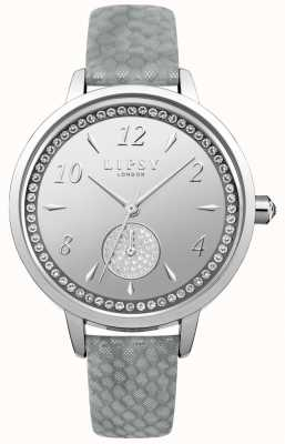 Lipsy Womens Grey Strap Silver Dial Watch LP581