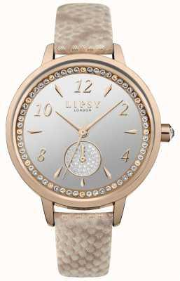 Lipsy Lipsy Rose Gold Strap And Case Watch LP582