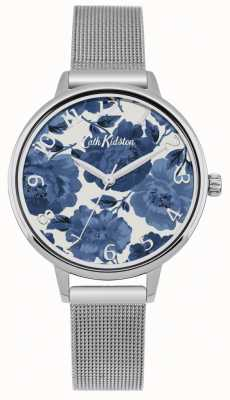 Cath Kidston Womens Floral Silver Mesh Watch CKL051SM