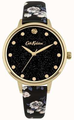 Cath Kidston Womens Glittery Island Bunch Black Strap Watch CKL056BG