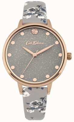 Cath Kidston Womens Glittery Island Bunch Grey Strap Watch CKL056ERG