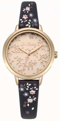 Cath Kidston Womens Laser Cut Highgate Ditsy Navy Strap Watch CKL055URG