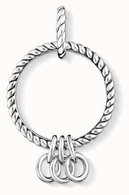 Thomas Sabo Sterling Silver Blackened Charm Carrier X0246-637-21