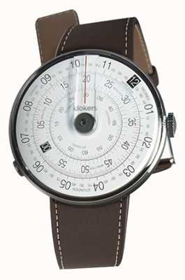Klokers KLOK 01 Black Watch Head Chocolate Brown Single Strap KLOK-01-D2+KLINK-01-MC4