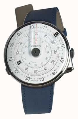 Klokers KLOK 01 Black Watch Head Indigo Blue Double Strap KLOK-01-D2+KLINK-02-380C3