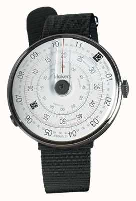 Klokers KLOK 01 Black Watch Head Black Textile Single Strap KLOK-01-D2+KLINK-03-MC3
