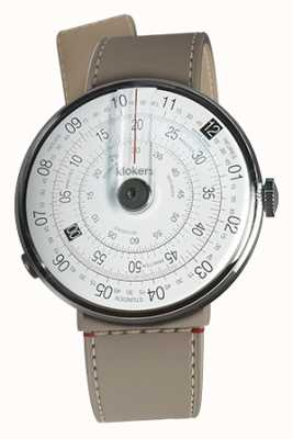 Klokers KLOK 01 Black Watch Head Grege Strait Single Strap KLOK-01-D2+KLINK-04-LC9