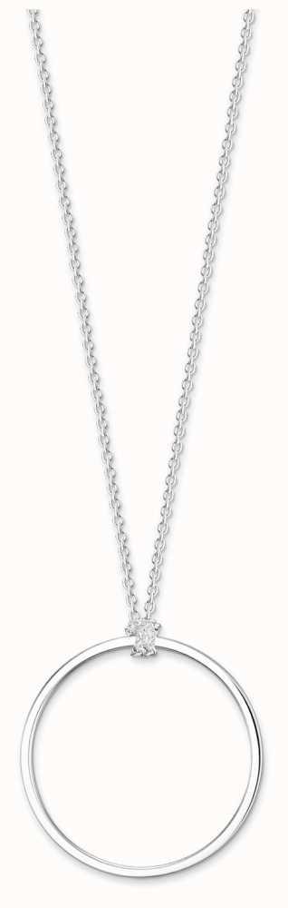Thomas Sabo Charm necklace Circle silver-coloured X0252-001-21-L70 Thomas Sabo Dt4da