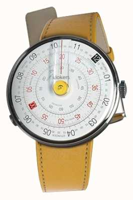 Klokers KLOK 01 Yellow Watch Head Newport Yellow Single Strap KLOK-01-D1+KLINK-01-MC7.1
