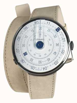 Klokers KLOK 01 Blue Watch Head Grey Alcantara Double Strap KLOK-01-D4.1+KLINK-02-380C6