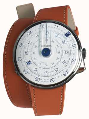 Klokers KLOK 01 Blue Watch Head Orange 420mm Double Strap KLOK-01-D4.1+KLINK-02-420C8