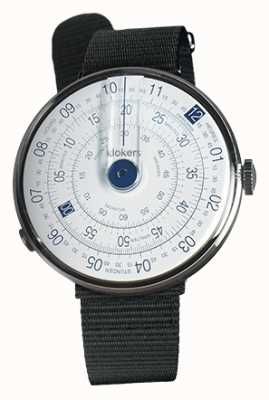Klokers KLOK 01 Blue Watch Head Black Textile Single Strap KLOK-01-D4.1+KLINK-03-MC3
