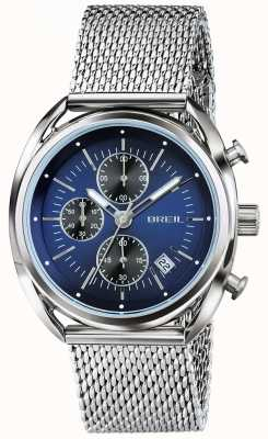 Breil Beaubourg Stainless Steel Chronograph Blue Dial Mesh TW1529