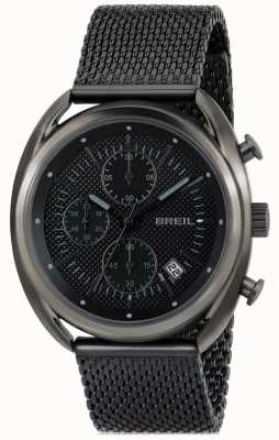 Breil Beaubourg Stainless Steel IP Gun Chronograph Black Dial Mesh TW1638