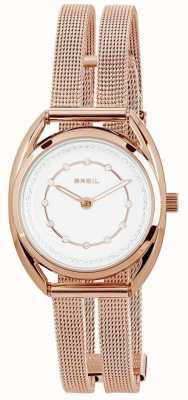 Breil Petit Rose Gold PVD Stainless Steel Silver Crystal Set Dial TW1653