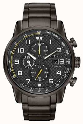 Citizen Men's Sport Chronograph Grey IP Plated Bracelet CA0687-58E