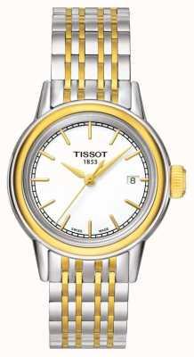 Tissot Carson Womens Quartz Two Tone Swiss Made Date T0852102201100