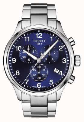 Tissot Mens Chrono XL Classic Blue Dial Stainless Steel Bracelet T1166171104701