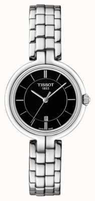 Tissot Womens Flamingo Black Dial Stainless Steel Bracelet T0942101105100