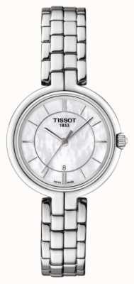 Tissot Womens Flamingo Stainless Steel Mother Of Pearl Dial T0942101111100