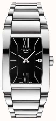 Tissot Womens Generosi-T Stainless Steel Black Tonneau Dial Date T1053091105800