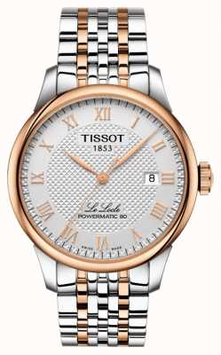 Tissot Mens Le Locle Powermatic 80 Two Tone Rose Gold Plated T0064072203300