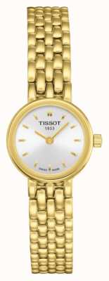 Tissot Womens Lovely Gold Plated Bracelet Plated Silver Dial T0580093303100