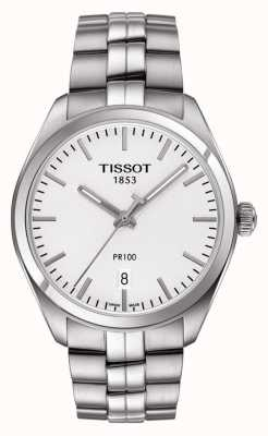 Tissot Mens PR100 Stainless Steel Silver Dial T1014101103100