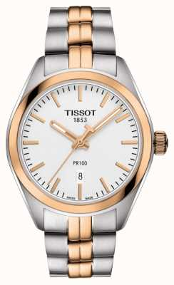 Tissot Womens PR100 Two Tone PVD Gold Plated Date T1012102203101