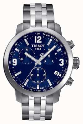 Tissot Mens PRC 200 Chronograph Blue Dial Two Tone T0554171104700