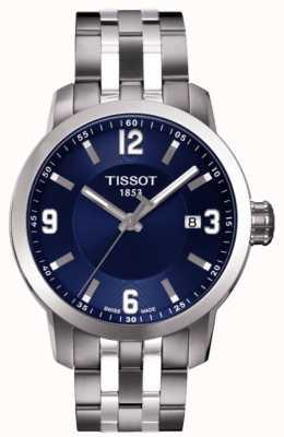 Tissot Mens PRC 200 Blue Dial Chronograph Two Tone Bracelet T0554101104700