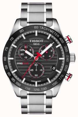 Tissot Mens PRS 516 Chronograph Black Dial Stainless Steel Bracelet T1004171105101