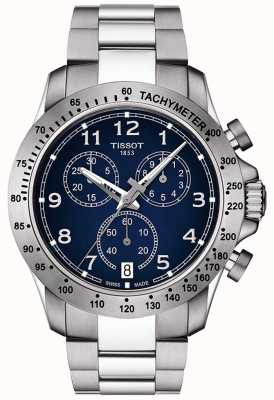 Tissot Mens V8 Quartz Chronograph Blue Dial Stainless Steel T1064171104200