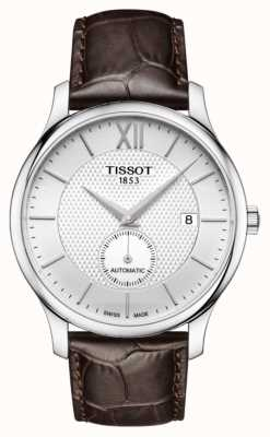 Tissot Mens Tradition Automatic Small Second Dial Brown Leather T0634281603800