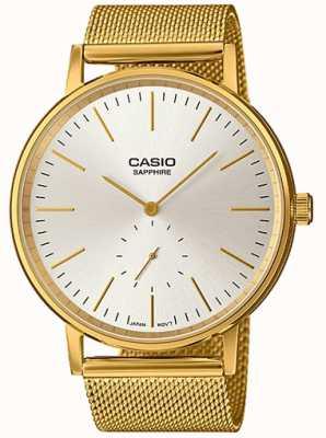 Casio Sapphire Stainless Steel Mesh Bracelet LTP-E148MG-7AEF