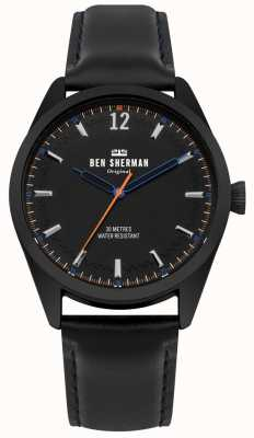 Ben Sherman Brushed Black Dial And Black Leather Strap WB019BB
