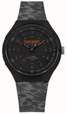 Superdry Urban XL  Tropic Camo Grey Silicone Strap SYG225E