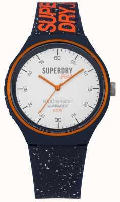 Superdry Urban XL Fleck Navy BLue Silicone Strap SYG227U